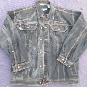 Other - Distressed black denim jacket